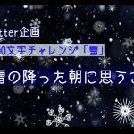 【3000文字チャレンジ】初雪の降った朝に思うこと